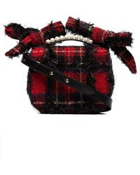 Simone Rocha - Red Tartan Shoulder Bag - Lyst