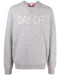 Mc2 Saint Barth Slogan-embroidered Sweatshirt - Grey