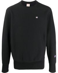 Champion Sweater Met Geborduurd Logo - Zwart