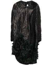 Comme des Garçons Quilted Asymmetric Hem Dress - Черный