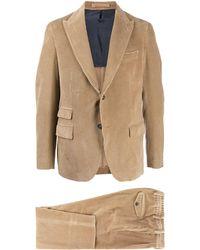 Eleventy Corduroy Two-piece Suit - Brown