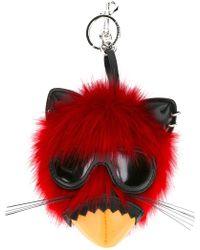 Stella McCartney Llavero de ratón punk - Rojo