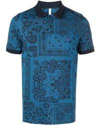 Sun 68 ペイズリー ポロシャツ - ブルー