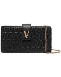 Versace Стеганая Мини-сумка Virtus - Черный