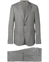 Z Zegna Two Piece Fitted Suit - Gray
