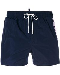 DSquared² - Branded Swim Shorts - Lyst