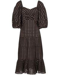 Johanna Ortiz Abacost Simplicity アイレットドレス - ブラック