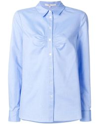Tibi - Shirt With Gathered Front - Lyst