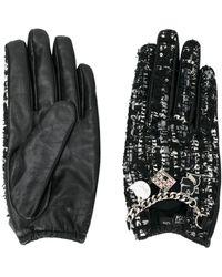 Karl Lagerfeld Твидовые Перчатки Soho С Подвесками - Черный