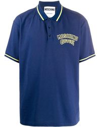 Moschino ロゴ ポロシャツ - ブルー