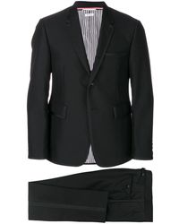 Thom Browne Classic Tuxedo With Bow Tie And Grosgrain Tipping In 3 Ply Wool Mohair - Zwart