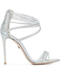 Le Silla - Glitter Strappy Sandals - Lyst