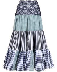 Silvia Tcherassi Flagler ラッフルスカート - ブルー