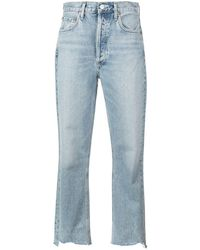 Agolde Riley Crop Jeans - Blue
