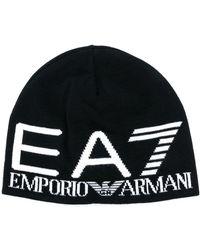 EA7 ロゴ ビーニー - ブラック
