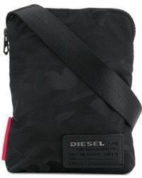 DIESEL - Military Printed Shoulder Bag - Lyst