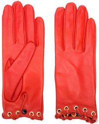 Manokhi Short Gloves - Red