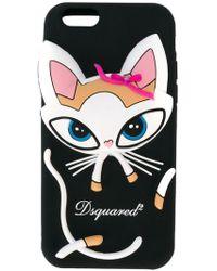 DSquared² Iphone-hoes Voor De Kat - Zwart