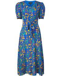 Saloni - Robe mi-longue à fleurs - Lyst