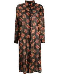 Mes Demoiselles フローラル メタリック ドレス - マルチカラー