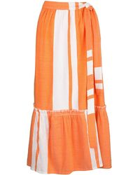 lemlem Zoya Wrap Skirt - Orange