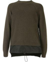N°21 Fine-knit Long-sleeve Jumper - Green