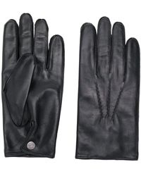 N.Peal Cashmere 007 Leather & Cashmere Lined Gloves - Black
