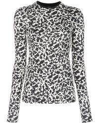 PROENZA SCHOULER WHITE LABEL プリント ロングtシャツ - ブラック