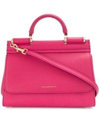 Dolce & Gabbana Сумка-тоут Sicily - Розовый