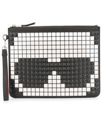 Karl Lagerfeld K/pixel Clutch Bag - Black