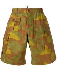 DSquared² Cargo-Shorts mit Camouflage-Print - Braun