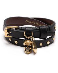 Alexander McQueen Браслет С Подвеской Skull - Черный
