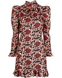 Sandro Ruffled Silk-blend Mini Dress - Pink
