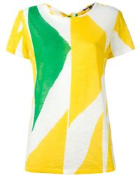 Proenza Schouler - Printed Tie Back T-shirt - Lyst