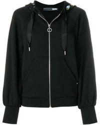 Sportmax - Embroidered Rose Zipped Sweatshirt - Lyst