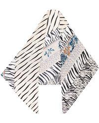Pierre Louis Mascia Striped Silk Scarf - Multicolour