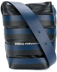 Paco Rabanne - Striped Bucket Logo Shoulder Bag - Lyst