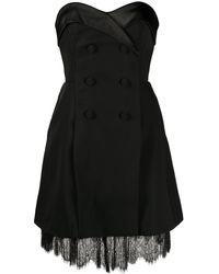 Self-Portrait ストラップレス ドレス - ブラック