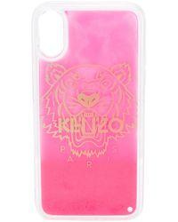 KENZO Чехол Tiger Для Iphone X/xs - Розовый