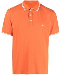 Fay ロゴ ポロシャツ - オレンジ