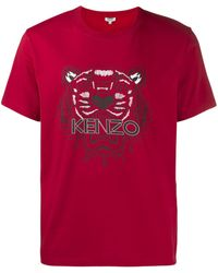 KENZO タイガー Tシャツ - レッド