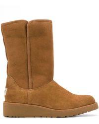 UGG Low Heel Shearling Boots - ブラウン