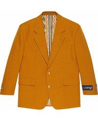 Gucci Blazer Met Enkele Rij Knopen - Oranje