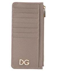 Dolce & Gabbana Pasjeshouder Met Logo Applicatie - Bruin