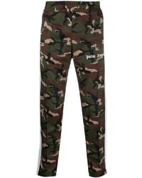 Palm Angels Pantalones de chándal con motivo militar - Verde