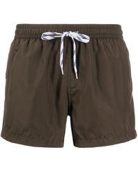 NOS Beachwear ドローストリング ショートパンツ - グリーン