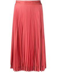 Calvin Klein プリーツ スカート - ピンク