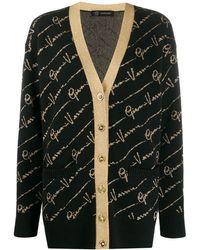 Versace Кардиган С Логотипом - Черный