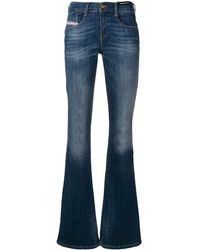 DIESEL Bootcut Jeans - Blauw