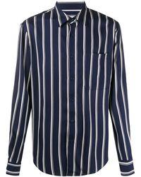Sandro Chemise ajustée à rayures - Bleu